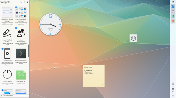The KDE Plasma desktop environment