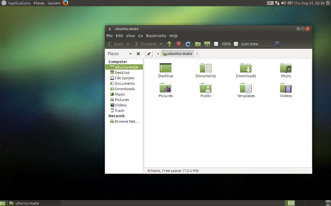 The MATE desktop environment