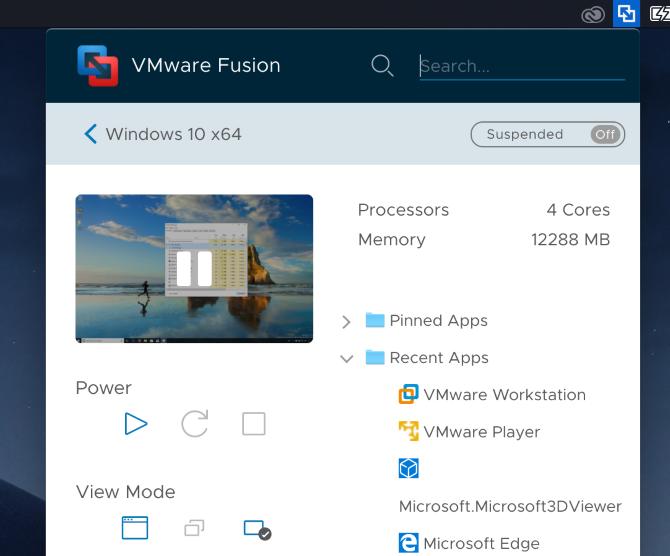 vmware fusion 11 windows 10 black screen