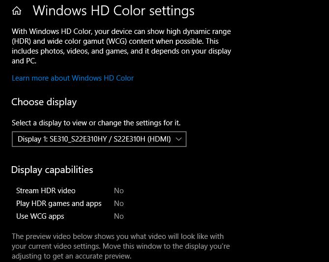 Windows HD color