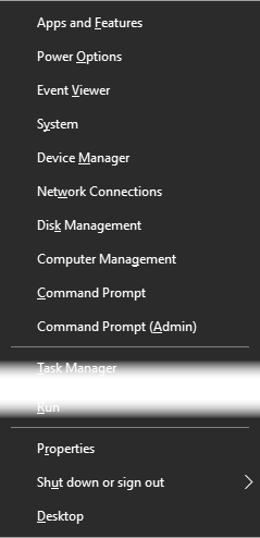 Windows Power User Menu