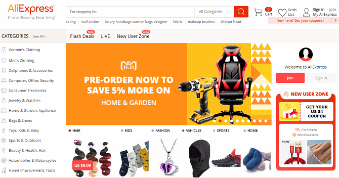 aliexpress homepage