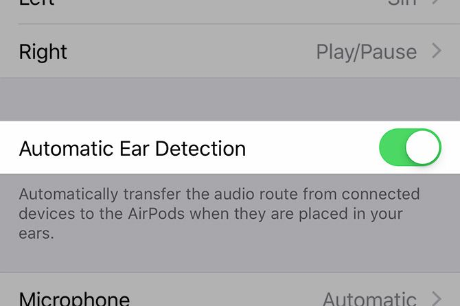 AirPods Automatic Ear Detection