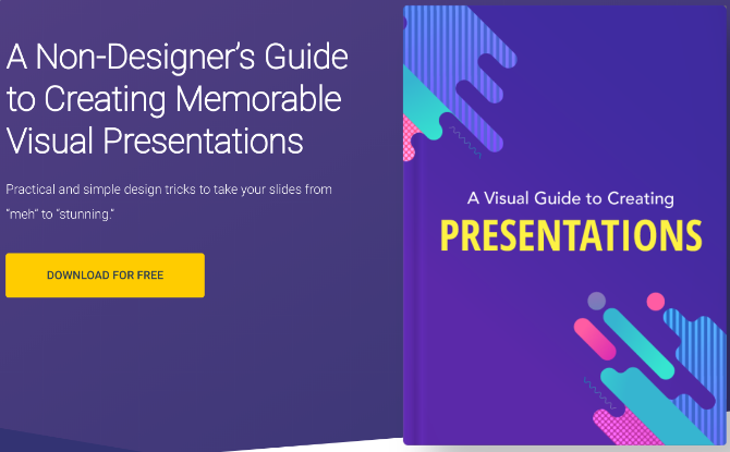 Download free ebook to learn how to make beautiful powerpoint presentations