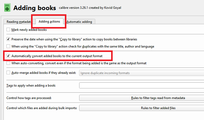 calibre convert ebooks automatically