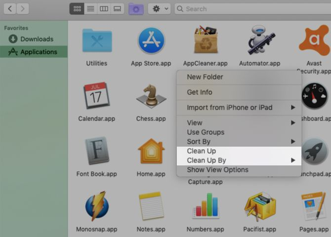context-menu-clean-up-options-in-finder-on-mac