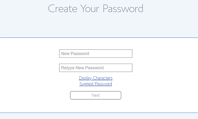 set up bluehost password