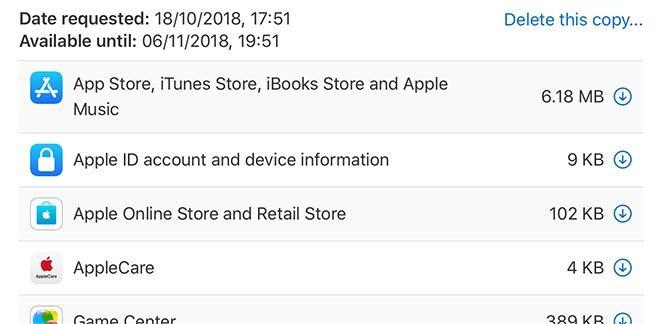Was weiß Apple über Sie? Fordern Sie jetzt Ihre persönlichen Daten an.