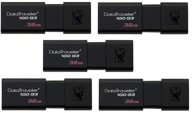 The 32GB kingston datatraveler 100 g3 is the fastest cheap flash drive