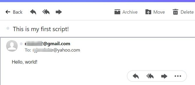 sending email with google script