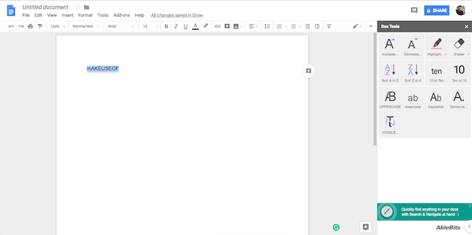 Google Docs Doc Tools Add-On