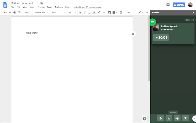 Google Docs Kaizena Add-On