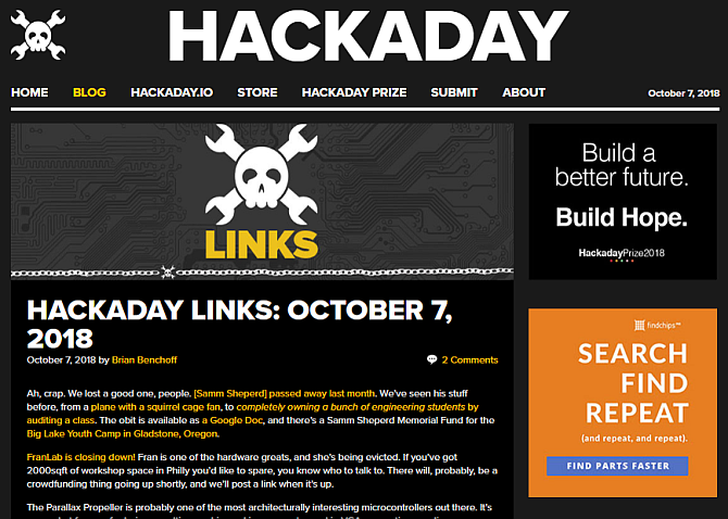 hackaday blog