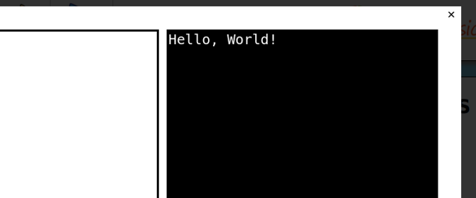 Output of basic Hello World Script