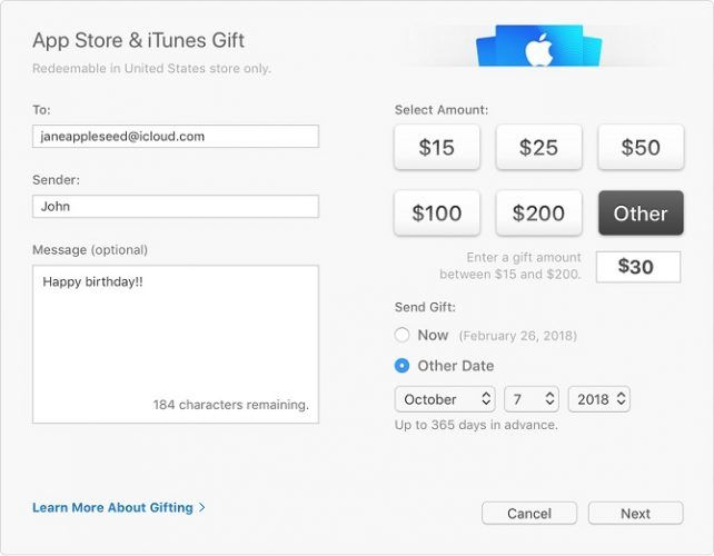 purchase itunes gift card
