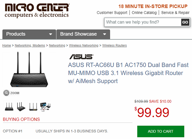 micro center router example