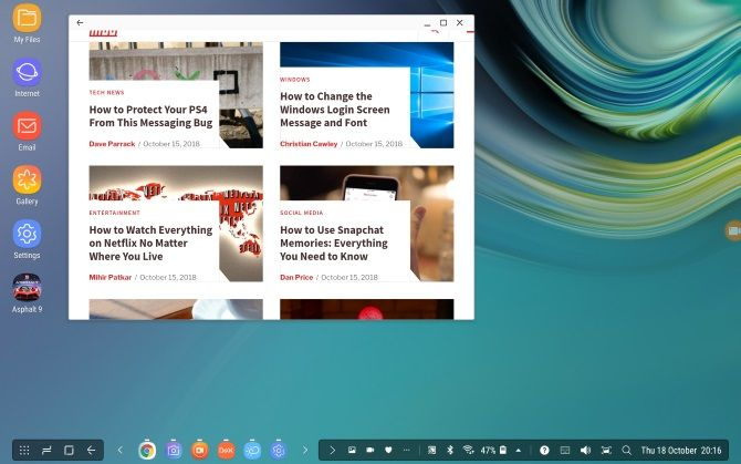 Desktop mode on Samsung Galaxy devices with DeX