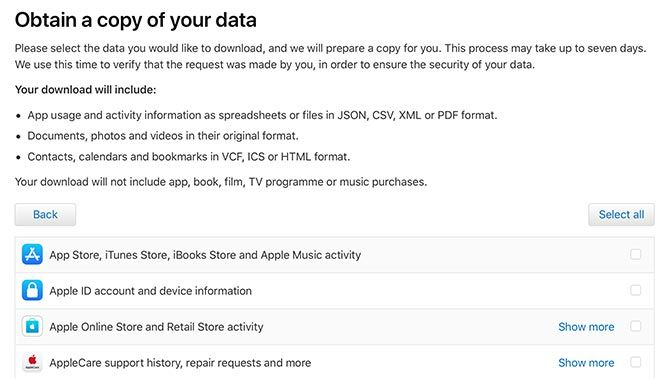Apple Privacy Obtain Your Data