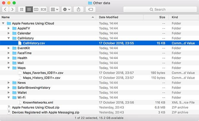 "Apple Privacy ""Other Data"" Folder"
