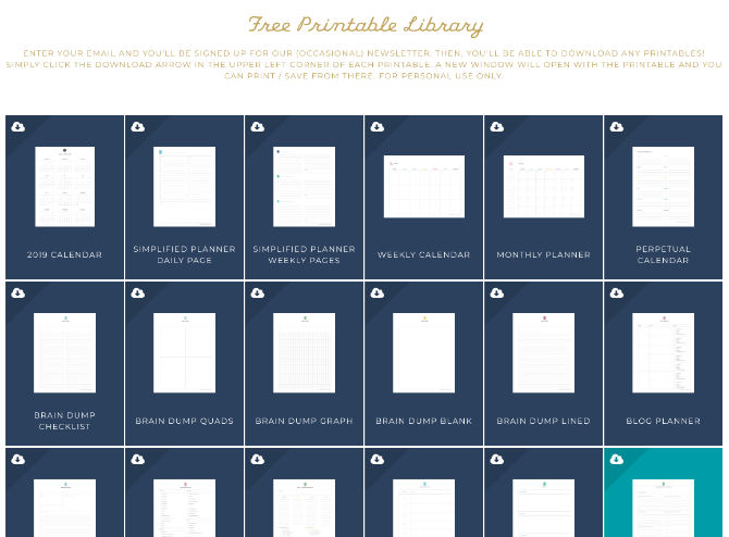 Simplified has free printable planners for every need