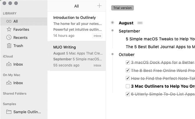 5 Mac Outliner als Hilfsmittel bei der Organisation Ihrer Projekte und Ideen