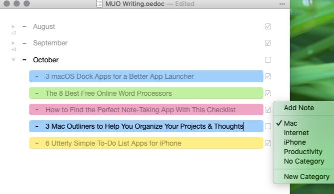 5 Mac Outliners to Help You Organize Your Projects and Ideas