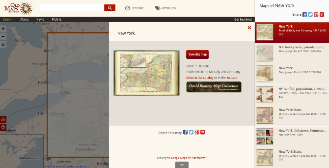 Old Maps Online has links to old maps of any place
