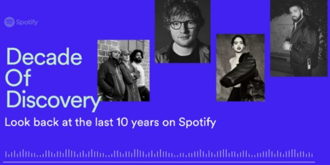 Spotify Looks Back Over a Decade of Music