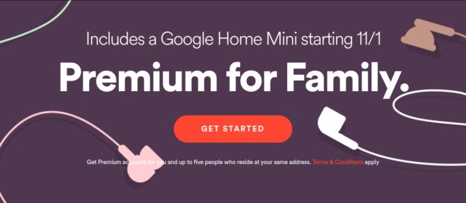 Spotify Family Users Can Get a Free Google Home Mini spotify premium for family promo
