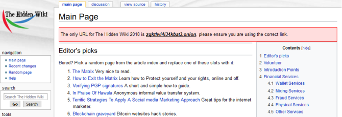 the hidden wiki tor 2018
