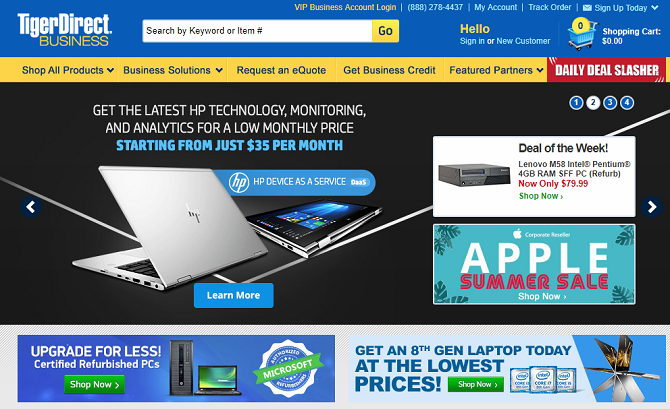 tigerdirect homepage