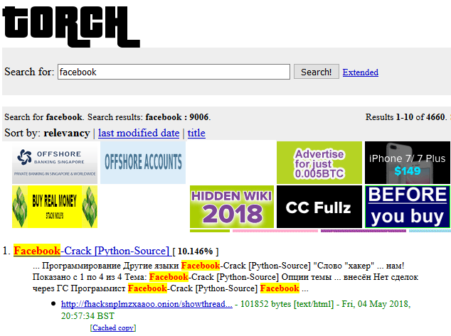 torch tor search engine