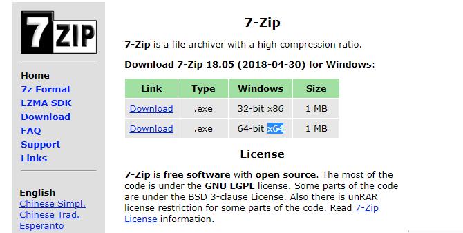 Versi 64-Bit 7-Zip