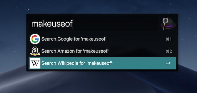 Alfred 3 web search mac