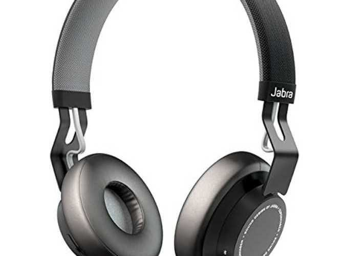 The Jabra Move Wireless on-ear Bluetooth headphones.