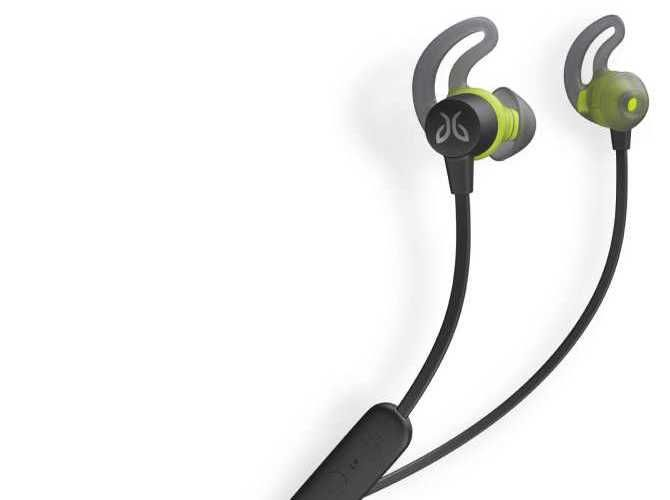 A set of Jaybird Tarah Bluetooth earbuds