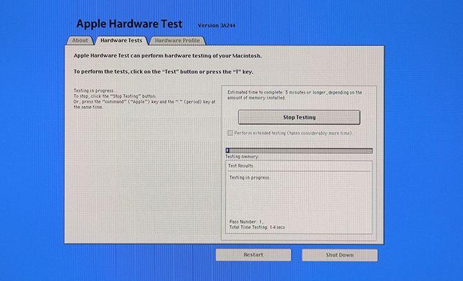 test du matériel Apple