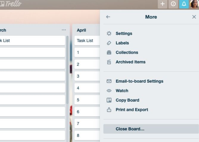 close-board-in-trello