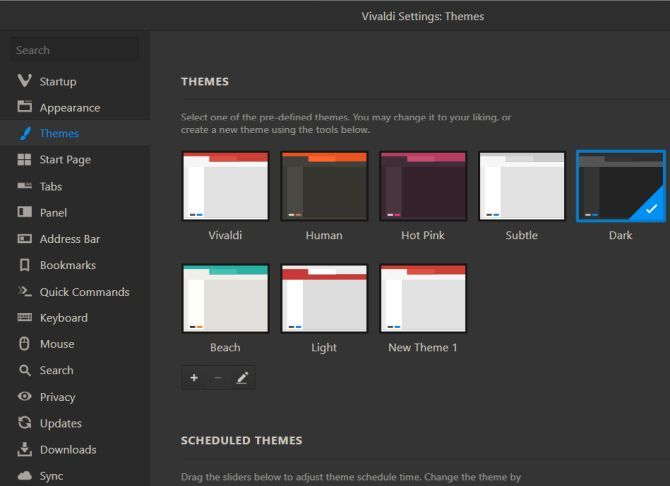 vivaldi dark themes