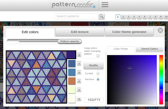 Pattern Cooler lets you create custom patterns for wallpapers