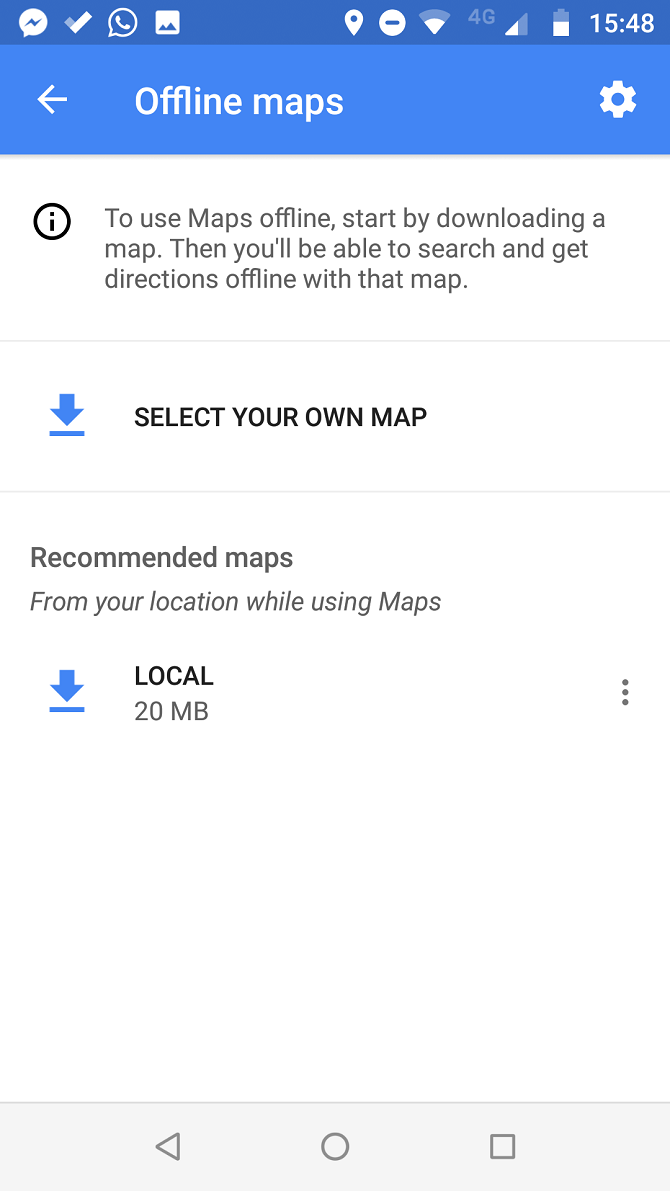 google maps offline download stuck