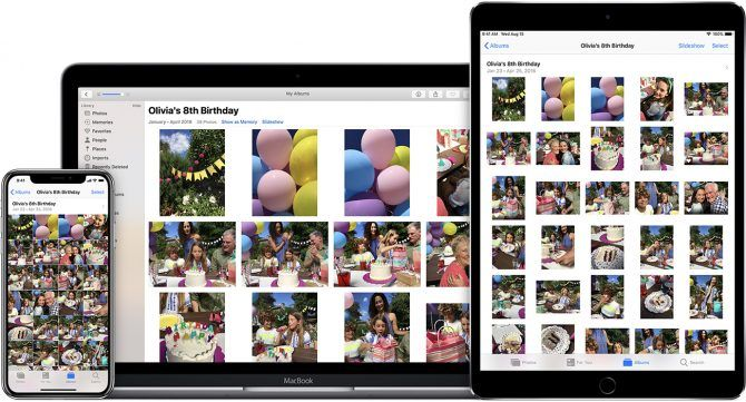 iCloud Photos on All Apple Devices