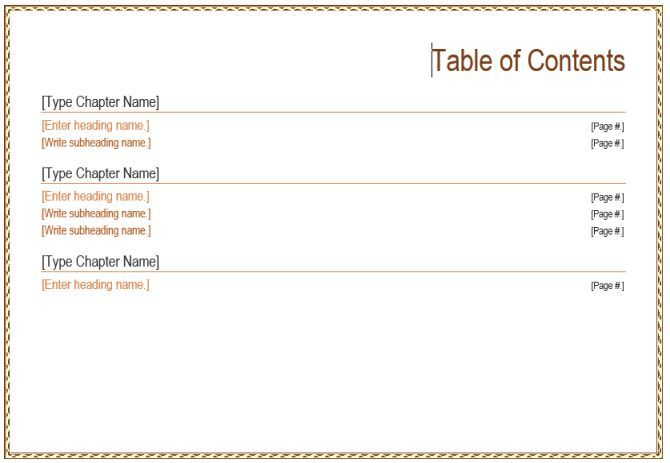 The 10 Best Table Of Contents Templates For Microsoft Word