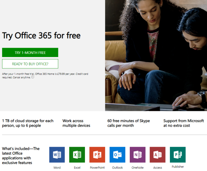 microsoft office try office 365 trial