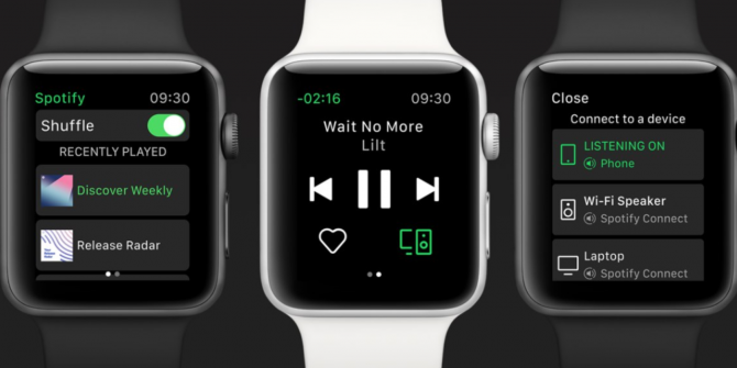 Spotify Launches an Apple Watch App