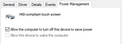 windows 10 device power management