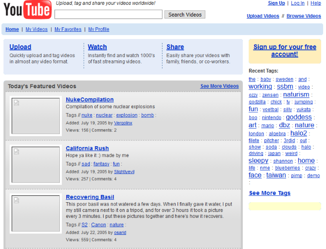 Go Back in Time: How 12 Big Websites Looked Years Ago