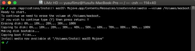 macOS-bootable-USB-Terminal