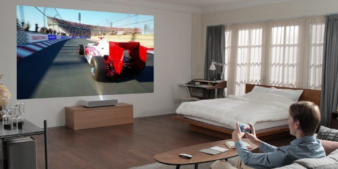 LG's New Projector: A 90-Inch 4K Display From 2 Inches Away