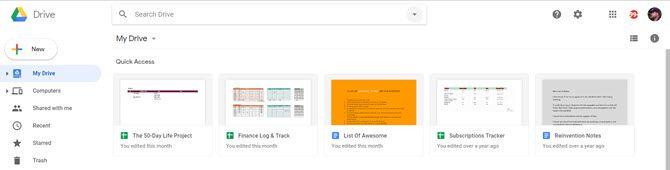 Acceso rápido a Google Drive